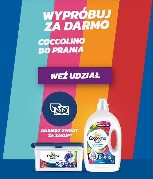 Coccolino Care - Cashback za kapsułki i żele do prania w Biedronce