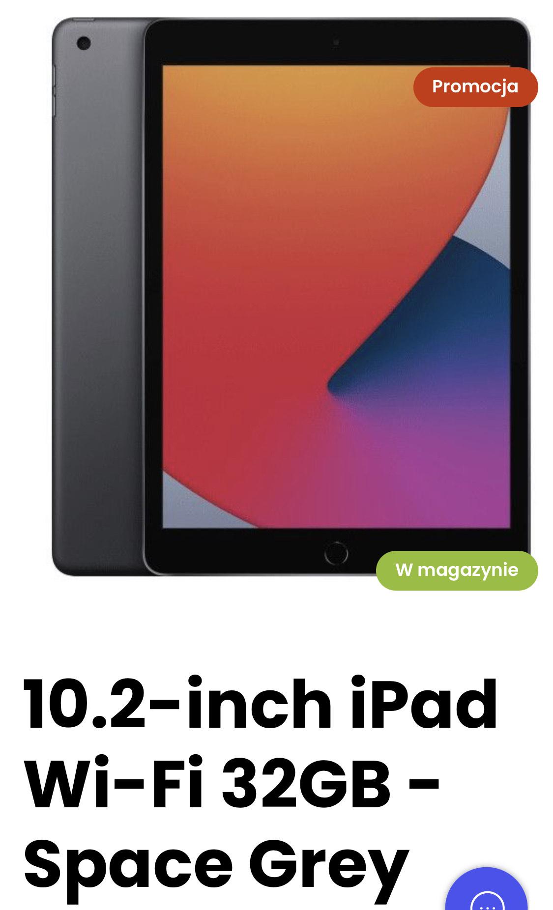 Apple iPad 10,2 cala 32 GB Space Grey