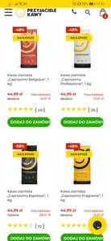 Kawa Caprissimo 1kg - różne rodzaje