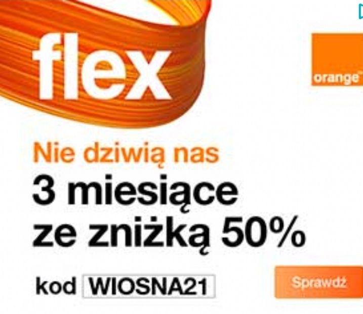 3miesiace -50% Orange Flex (dla nowych)