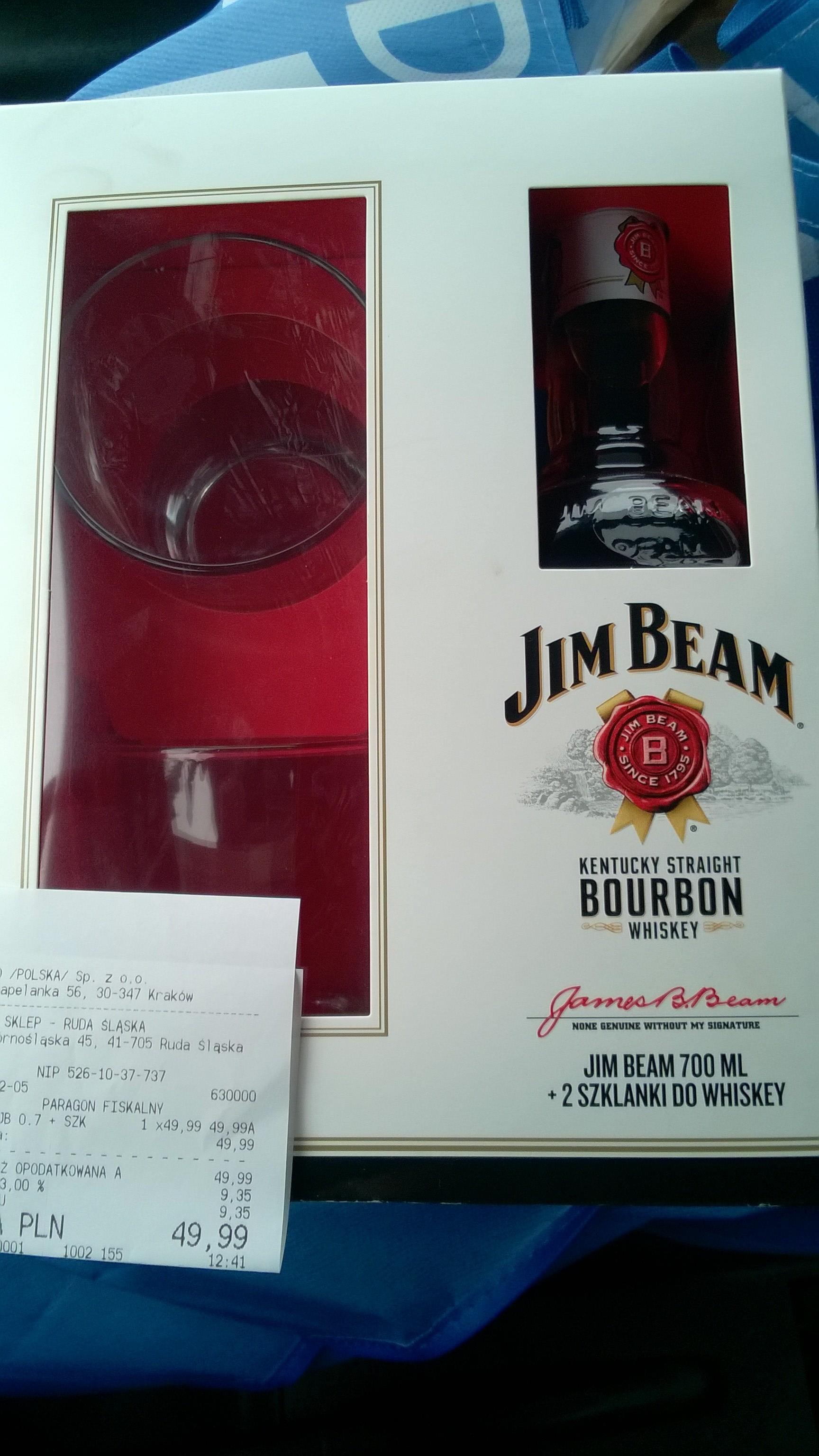 Jim Beam 0,7 L  2 szklanki Tesco