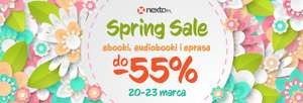 Wiosenna wyprzedaż ebooków, audiobooków i eprasy w Nexto do -55%