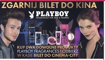 Bilet do kina przy zakupie produktów Playboy @ Carrefour