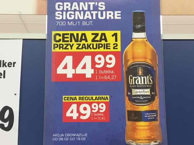 grant's sygnaturę 0,7 whisky LIDL