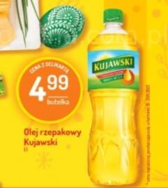 Olej kujawski 1l/4,99 zł Delikatesy Centrum oraz Aldi