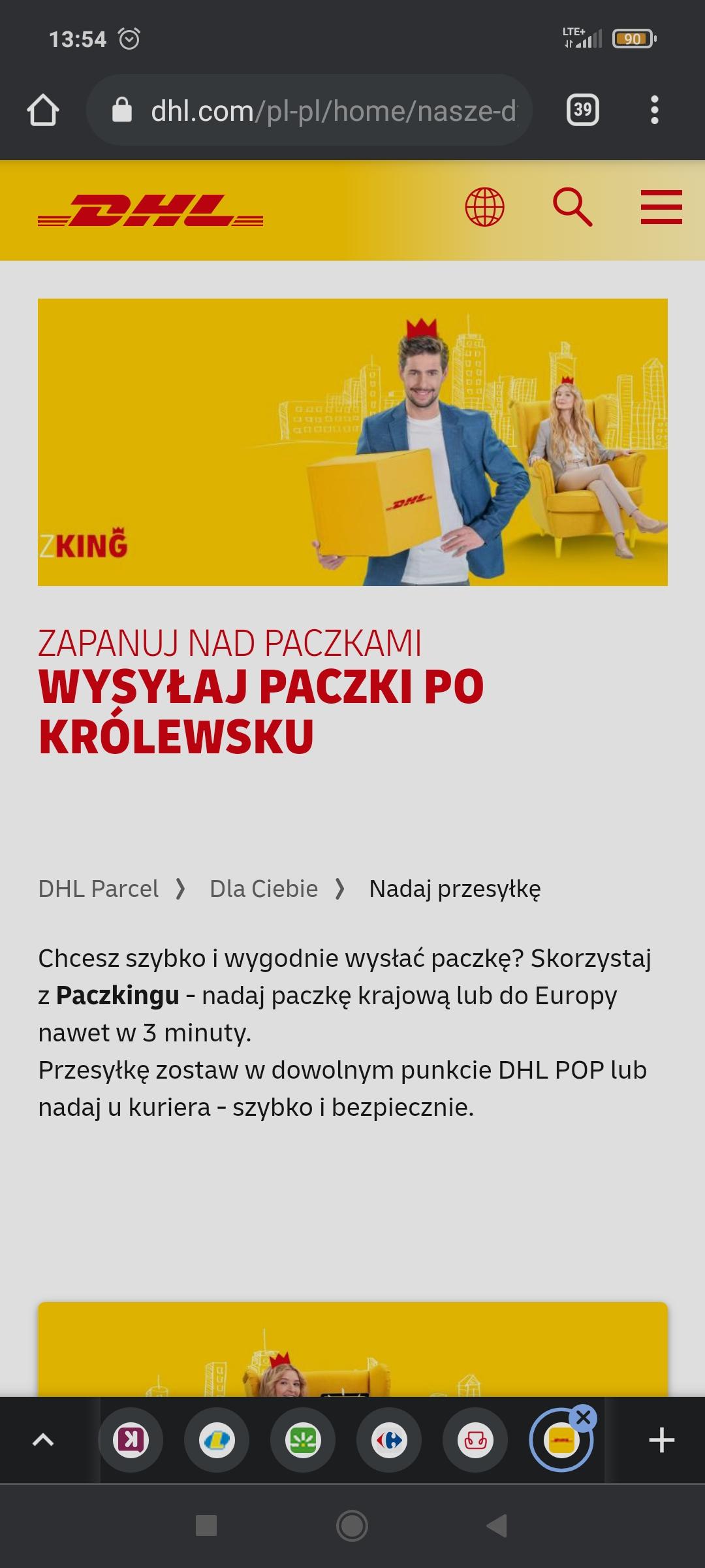 Wysyłaj przesyłki do Polski i Europy 20 % taniej z kodem paczking w DHL