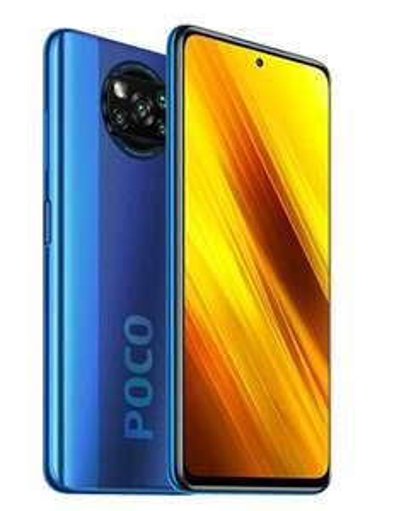 "Xiaomi POCO X3 NFC Smartfon, 6.67"" LCD, 6GB/128GB, Cobalt Blue"