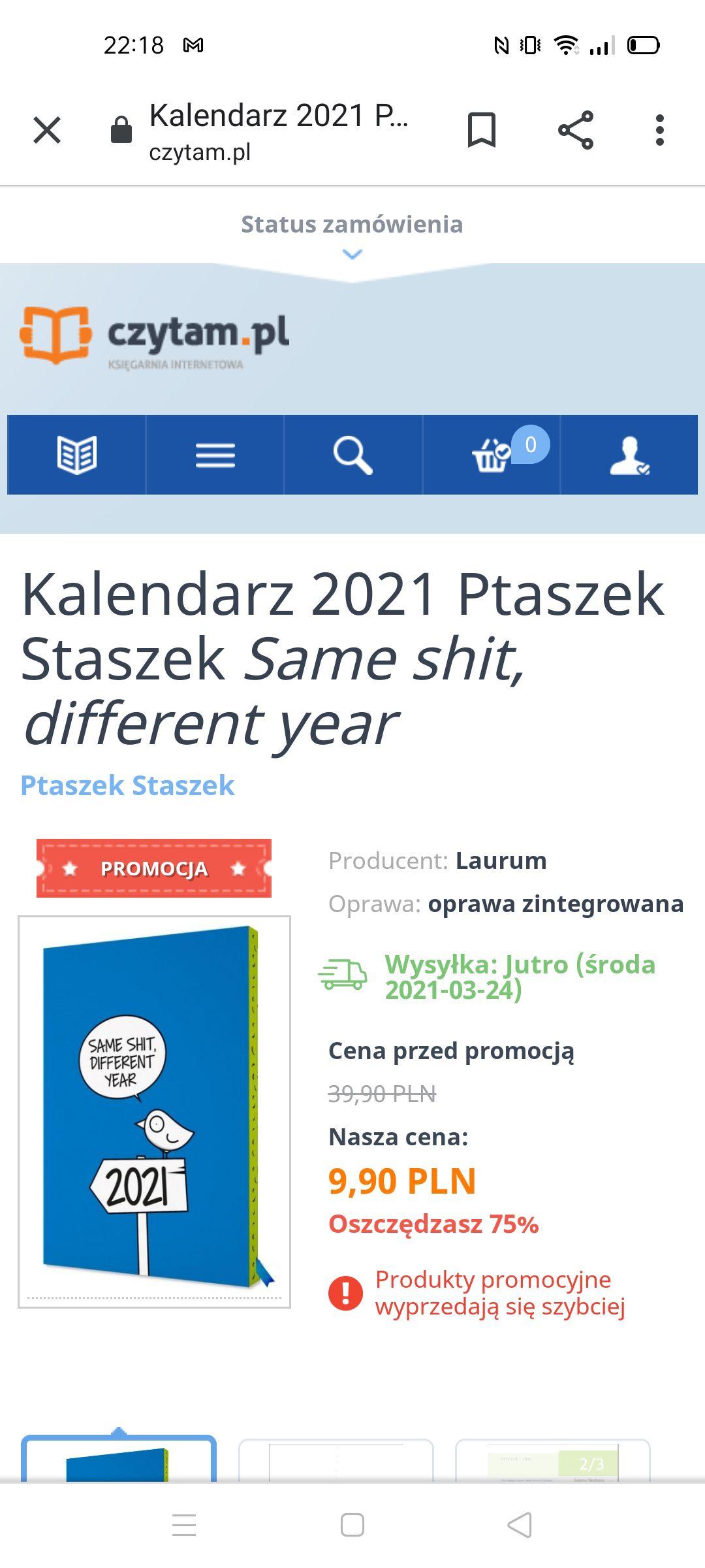 Kalendarz 2021 Ptaszek StaszekSame shit, different year