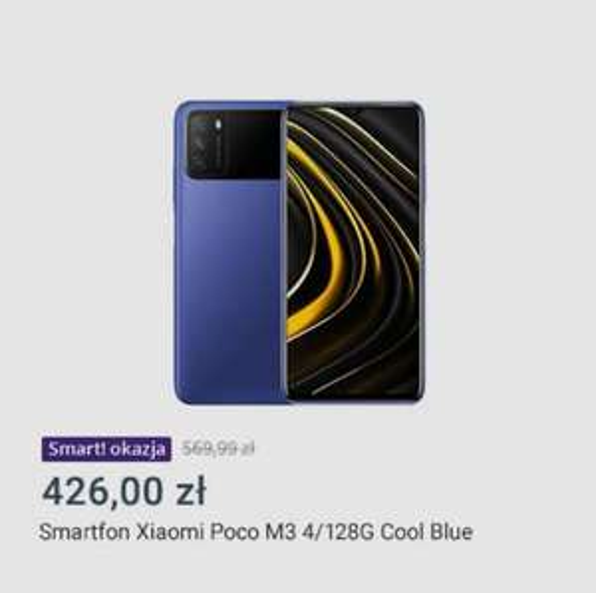 Allegro Smart Okazje Smartfon Xiaomi POCO M3 4 GB / 128 GB Cool Blue.