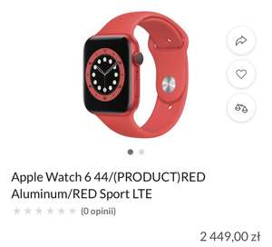 Apple Watch 6 44/Aluminum/RED Sport LTE