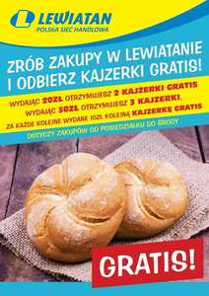 Darmowe kajzerki za zakupy w Lewiatan :D