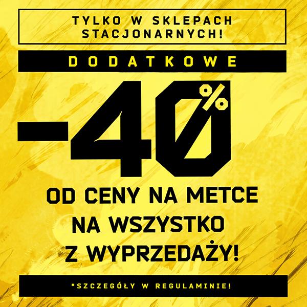 -40% na wyprzedaż sklepy stacjonarne CROPP