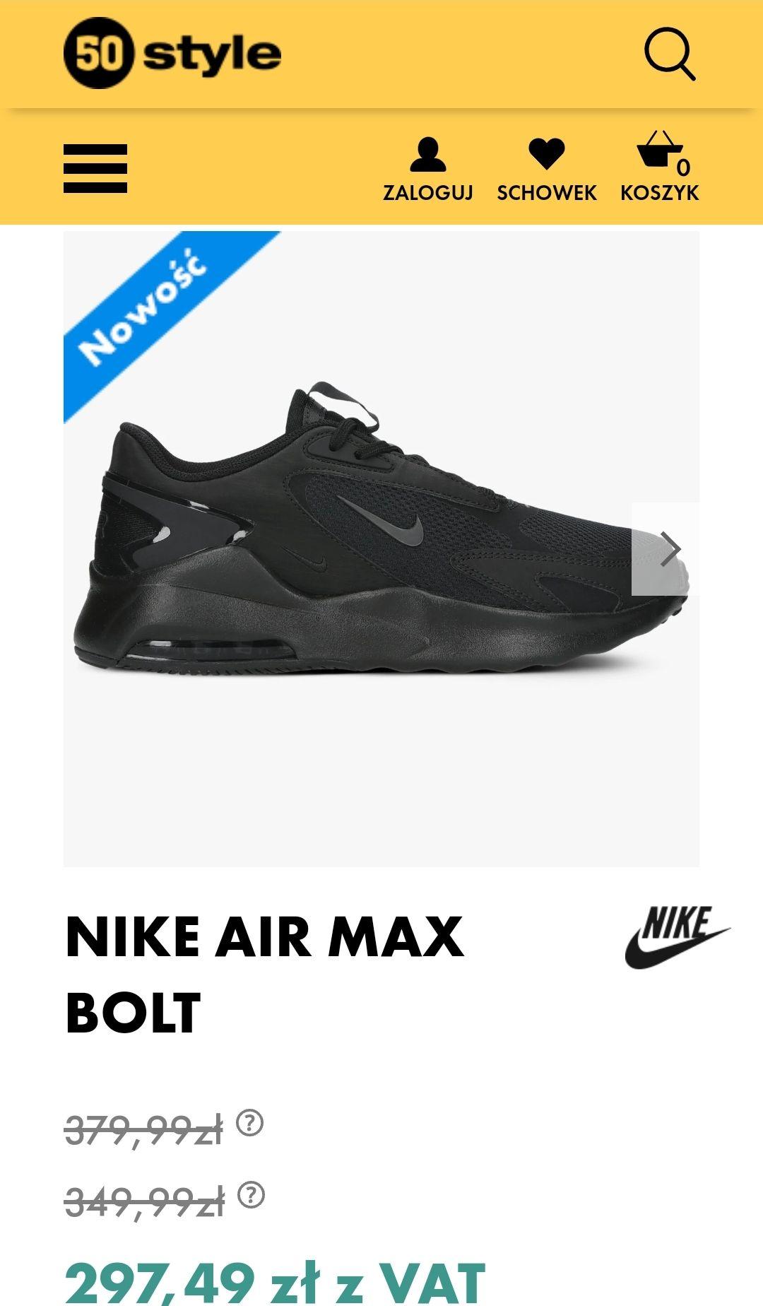 Buty męskie Nike Air Max Bolt - 50 style