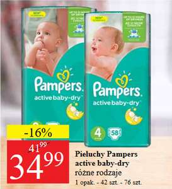 Pieluszki Pampers za 34,99zł @ POLO Market