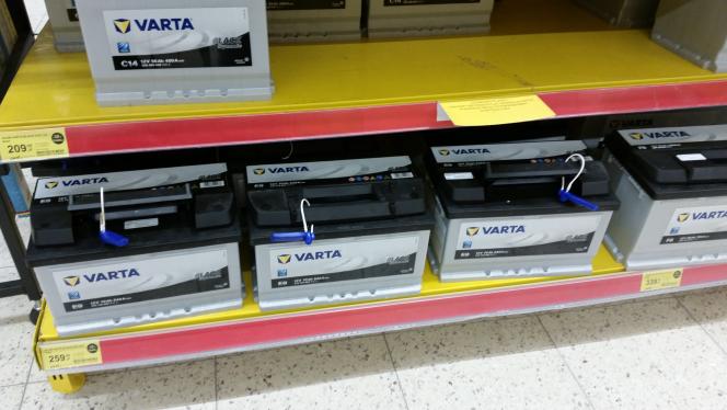 Akumulatory Varta w Tesco