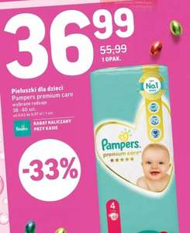 Pampers Premium Care 36.99 w Intermarche - wybrane rozmiary
