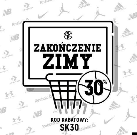 Zimowa wyprzedaż w sklepkoszykarza.pl Buty do kosza przecenione -10%/-20%/-30% + kod na - 30% od ceny wyjściowej.