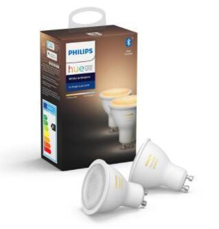 2 żarówki Philips Hue White Ambiance GU10 @Euro