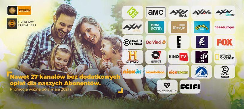 Darmowe 27 kanałów telewizyjnych aż do maja dla klientów Cyfrowego Polsatu i klientów Plusa