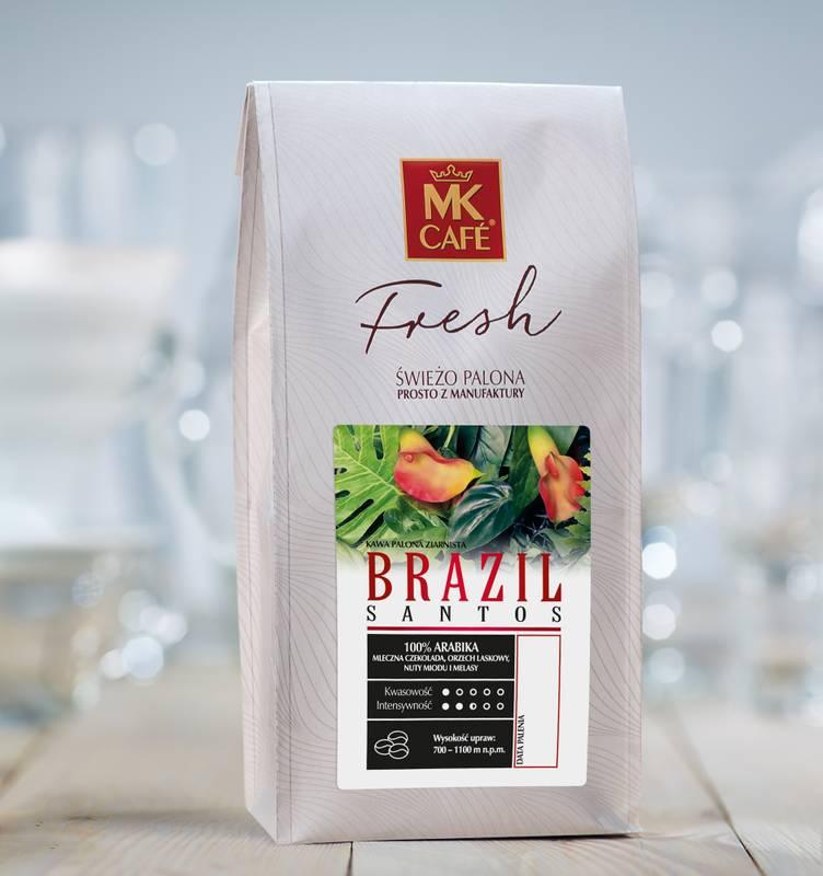 Kawa BRAZIL SANTOS 2x1KG ZIARNO Mk Cafe Fresh (27,79zł/kg)