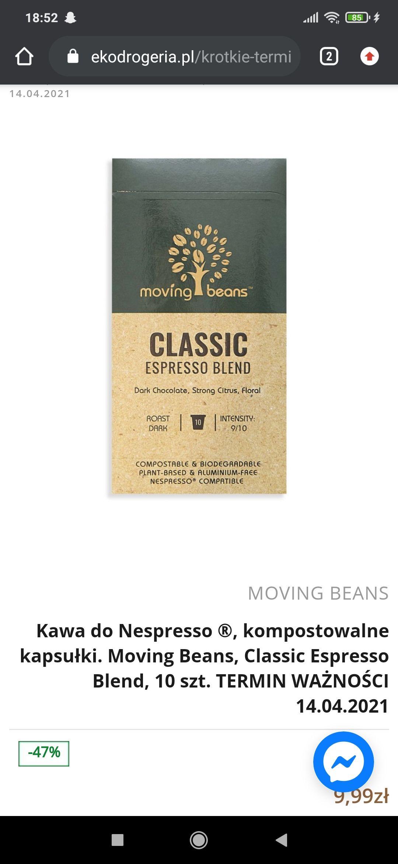 Kawa w kapsułkach Nespresso Moving Beans Espresso