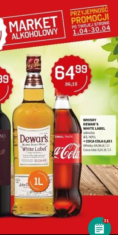 Whisky Dewar's White Label 1l + Coca cola 0,85l w Duży Ben