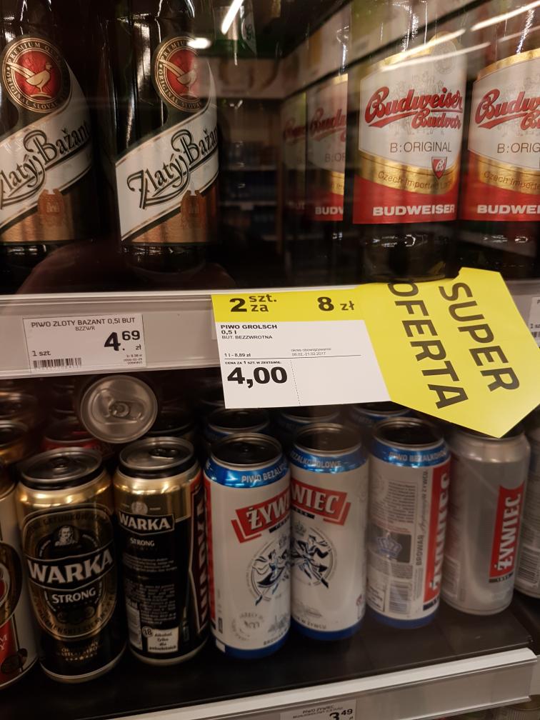 Grolsch za 4 zł w fresh markecie przy zakupie 2szt.
