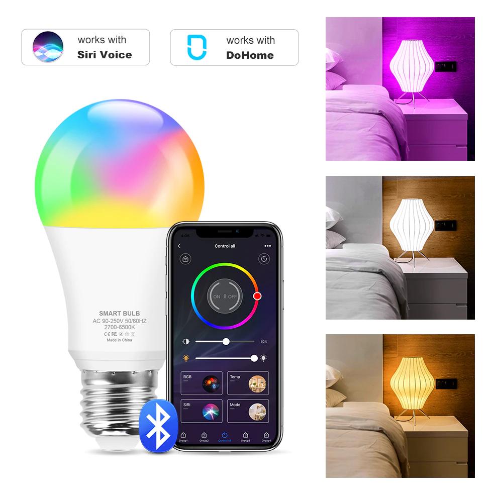 Zbiorcza Żarówka Smart RGB Bluetooth (z oferty), RGB Wifi E27 oraz taśma LED i inne od Leginovo w dobrej cenie [ Tuya, Alexa, Google, Siri ]