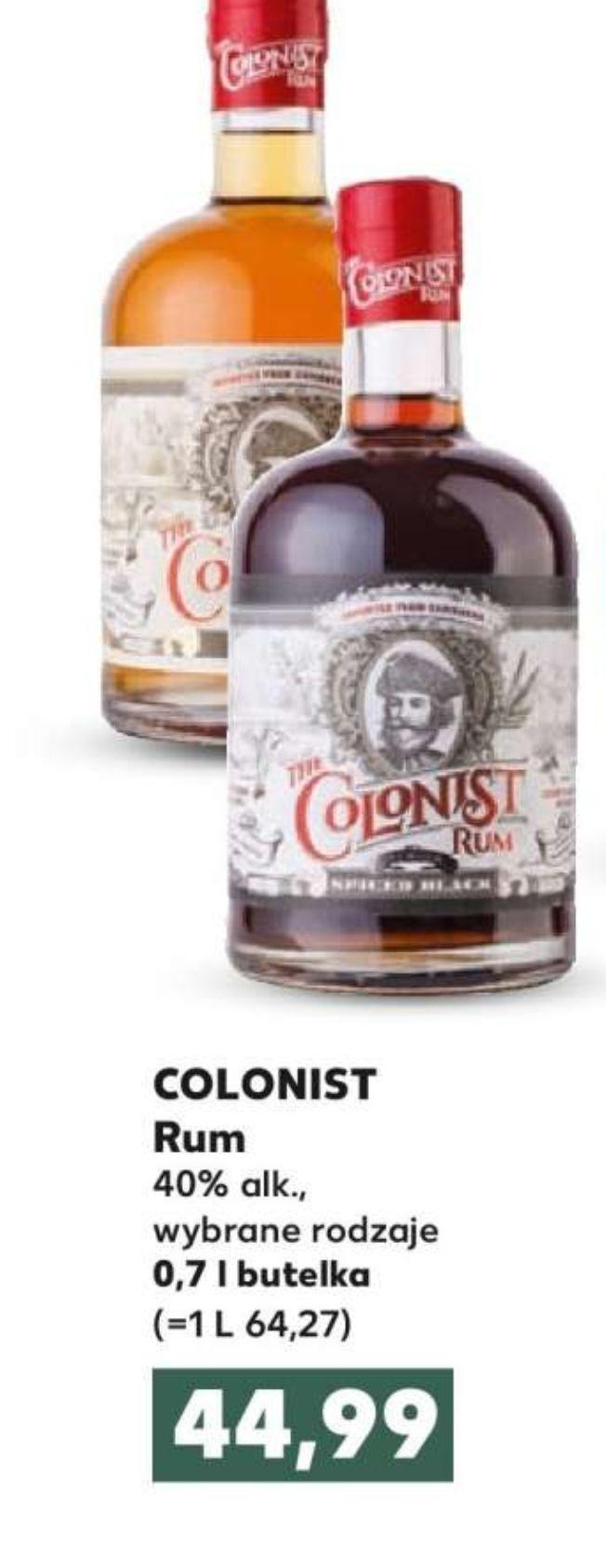 Rum Colonist 0,7l. Kaufland