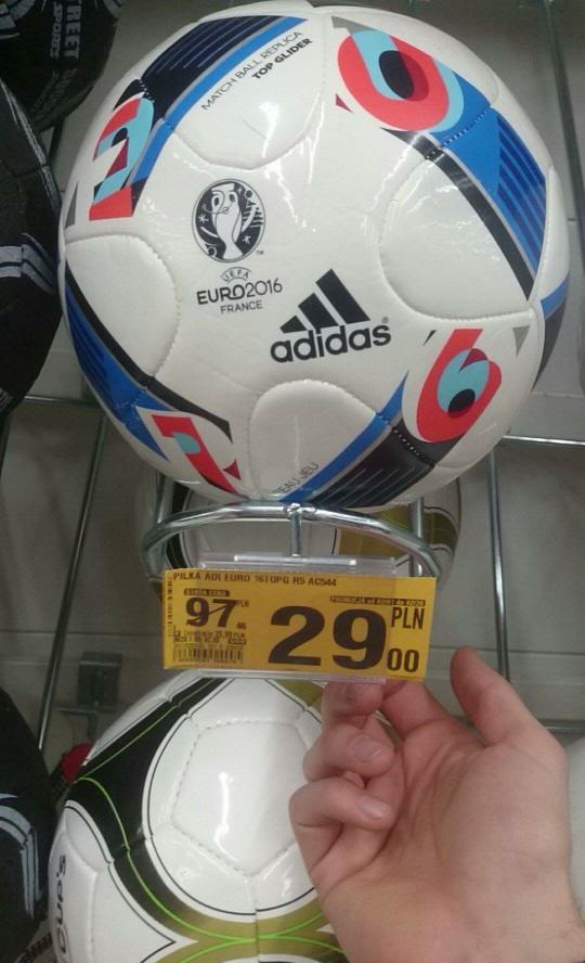 Auchan Piłka Adidas Euro 2016