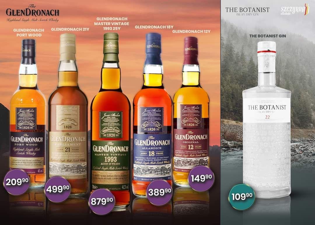 whisky GlenDronach 12 0.7 itp Szczyrba alkohole