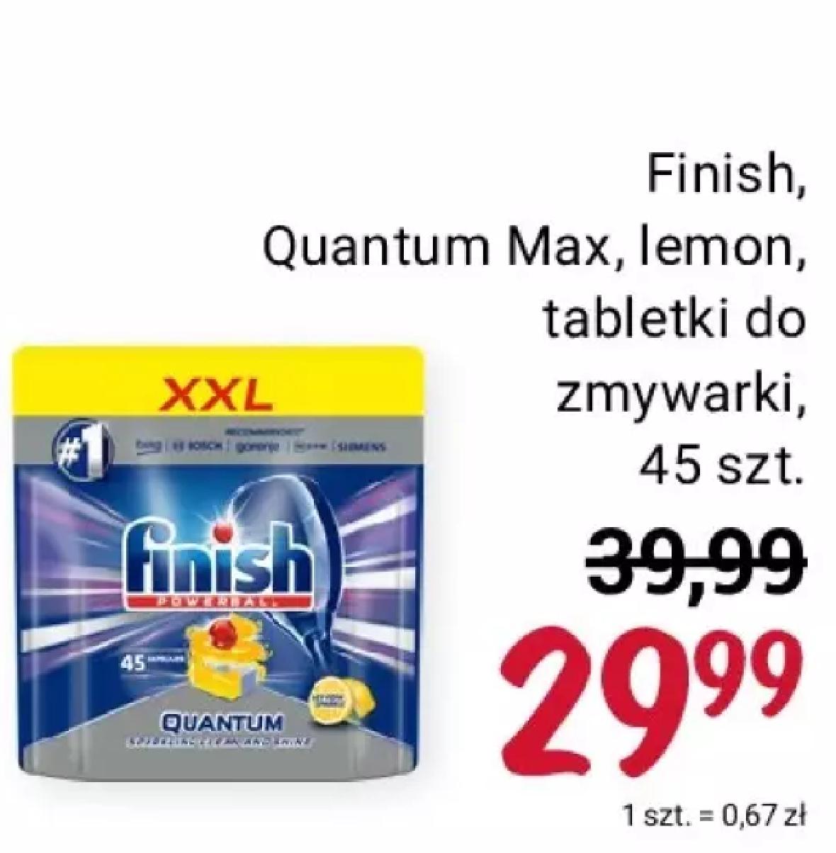 Tabletki do zmywarki Finish Quantum Max, 45 szt. | Rossmann