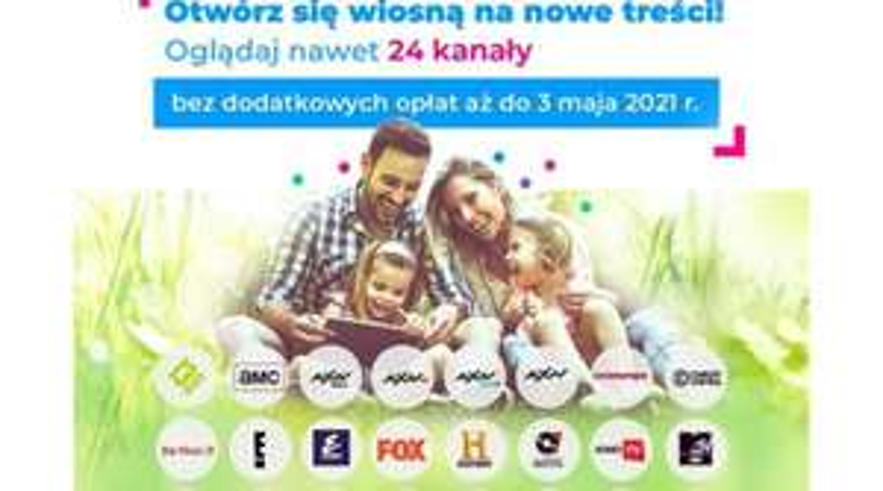 Wiosenne okno otwarte w Netia, bez dodatkowych opłat 24 różnorodne kanały TV
