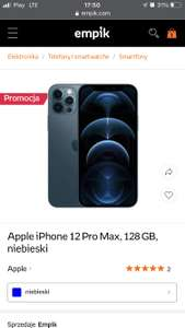 Apple iPhone 12 Pro Max, 128 GB, niebieski