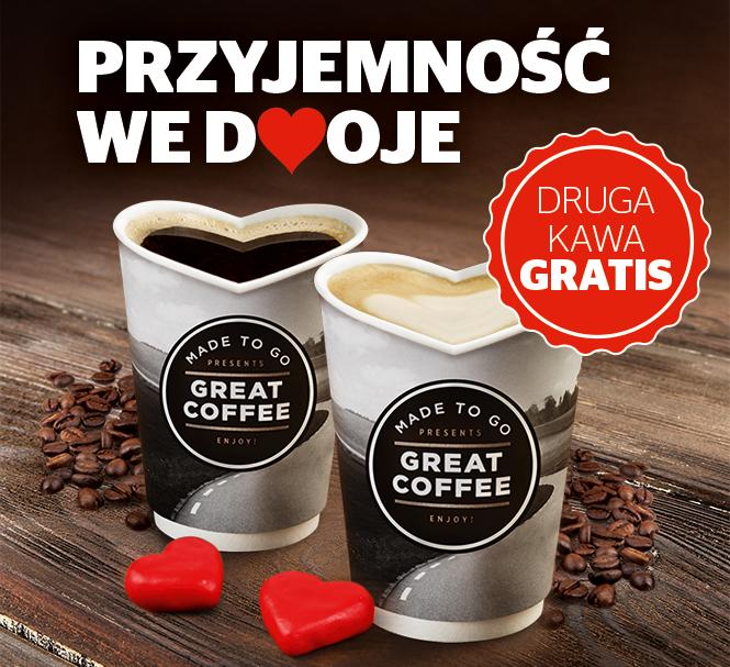 W Walentynki druga kawa na Statoil gratis.