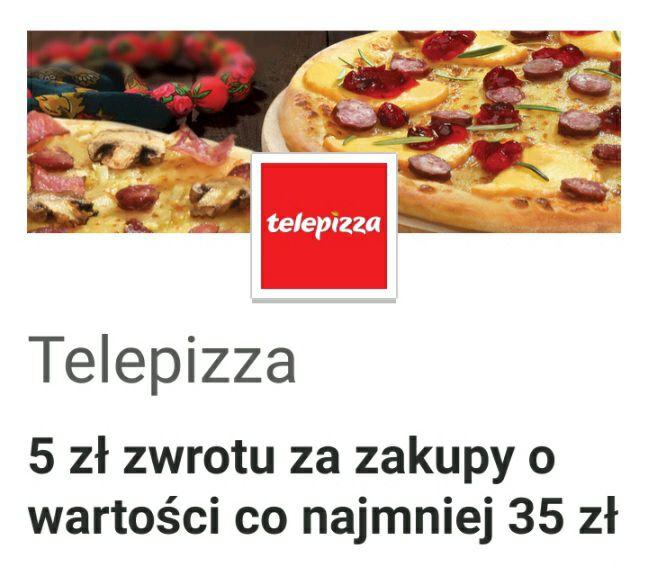 Visa Oferty: Telepizza: 5 zł zwrotu za zakupy o MWZ 35 zł