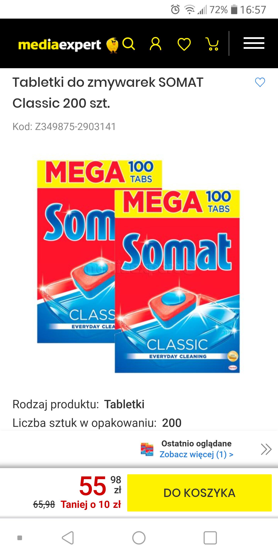 Tabletki do zmywarki somat classic 200 szt | media expert