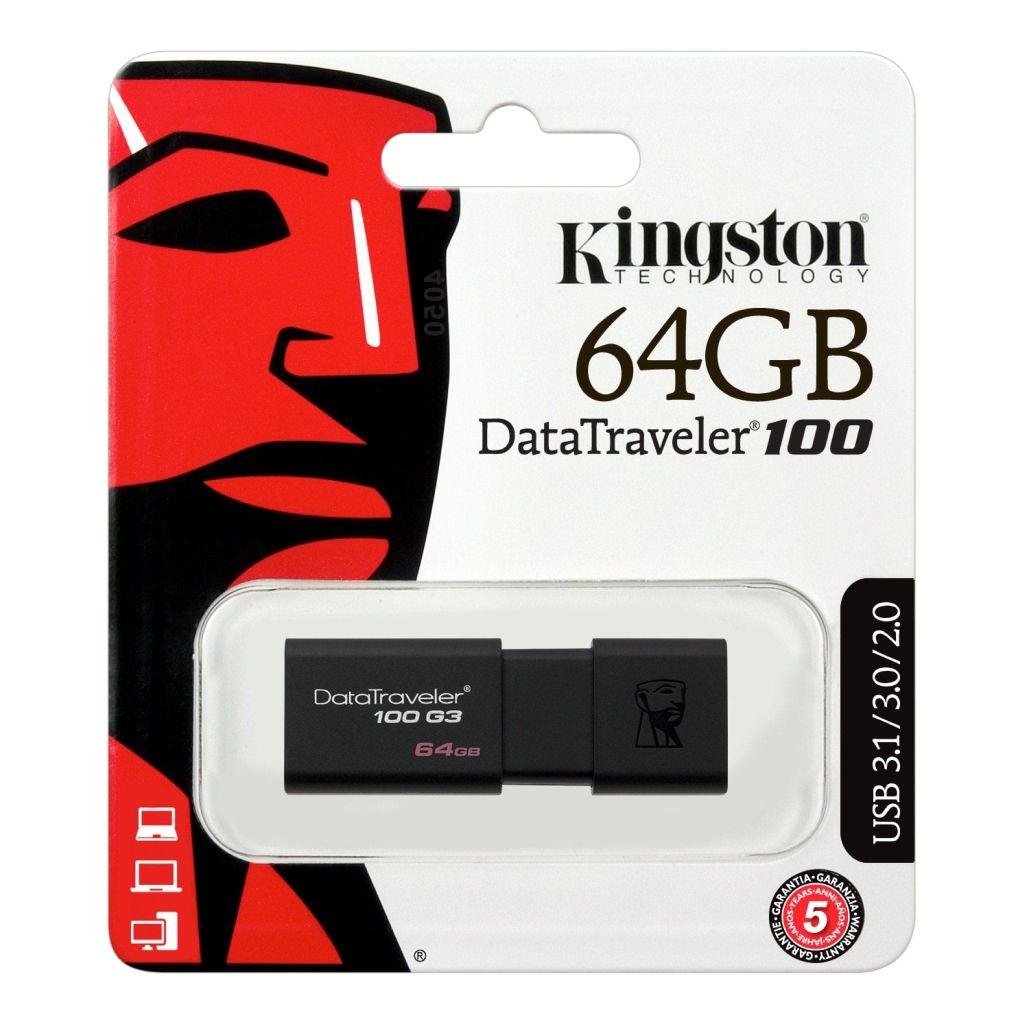 Pendrive Kingston DT100G3 64GB 3.0