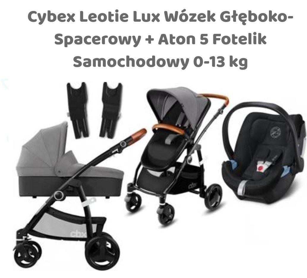 Cybex Leotie Lux Wózek Spacerowy + Gondola + Aton 5 Fotelik 0-13 kg