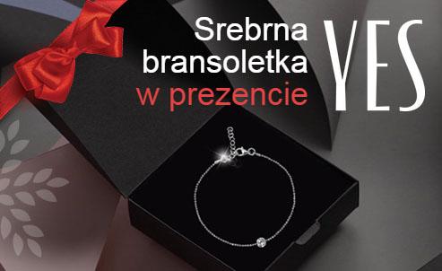 Srebrna bransoletka YES w prezencie za zakupy @ Intermarche