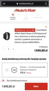 Apple Watch 6 GPS 44 mm gwiezdna szarość