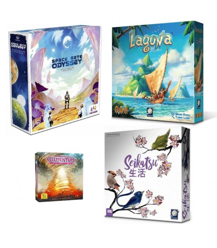 Gra planszowa / Gry planszowe BOX ( Seikatsu, Space Gate Odyssey, Laguna , Elementum)