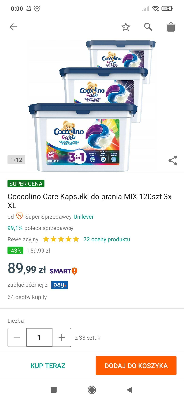 Kapsułki Coccolino 120 szt