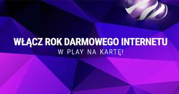 Rok Internetu Za Darmo 1GB co miesiąc przez rok @play