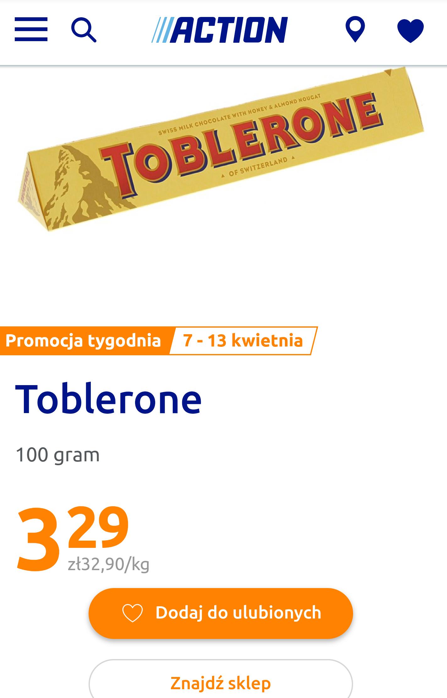 Czekolada Toblerone 100g