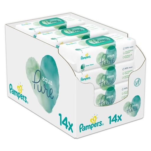 Pampers aqua pure, chusteczki nawilżane dla niemowląt