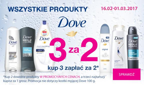 3 w cenie 2 na produkty Dove @ Hebe