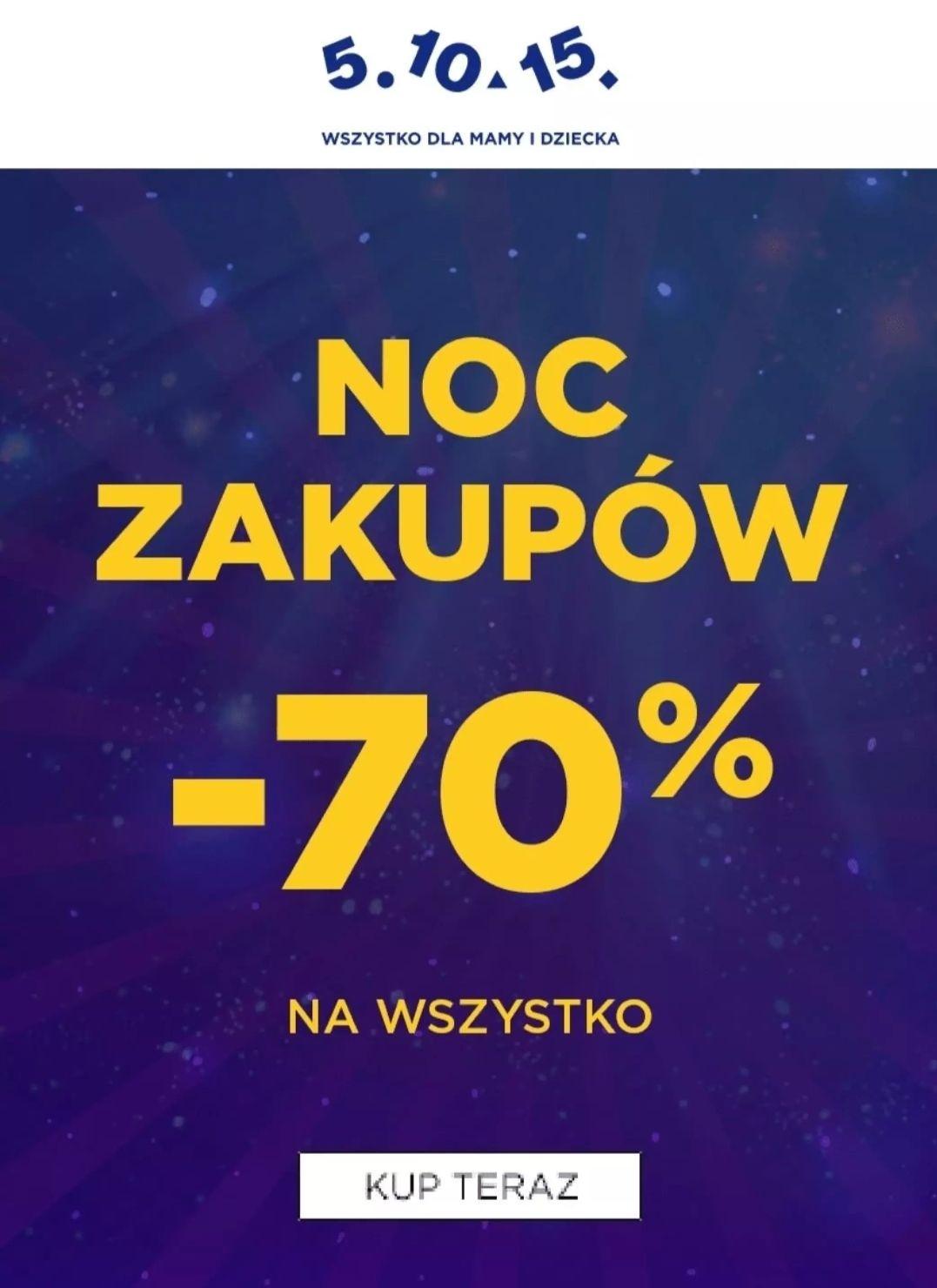 5.10.15 Nocy Zakupów - 70%