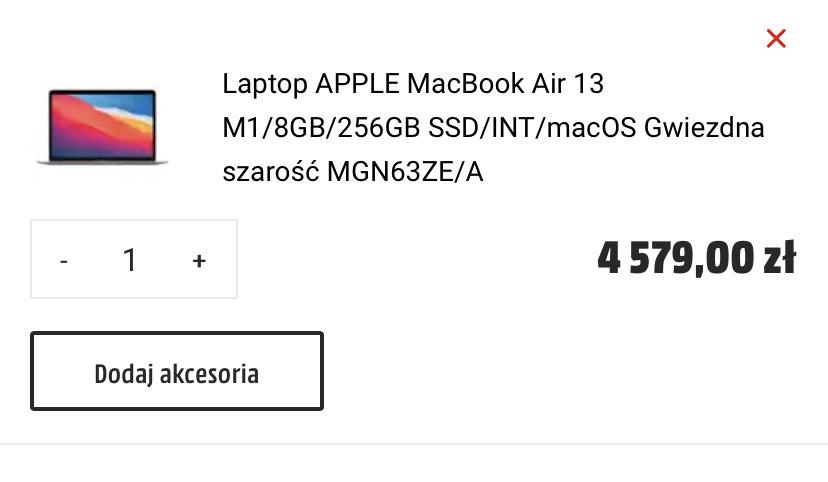 MacBook Air m1 8/256 space grey