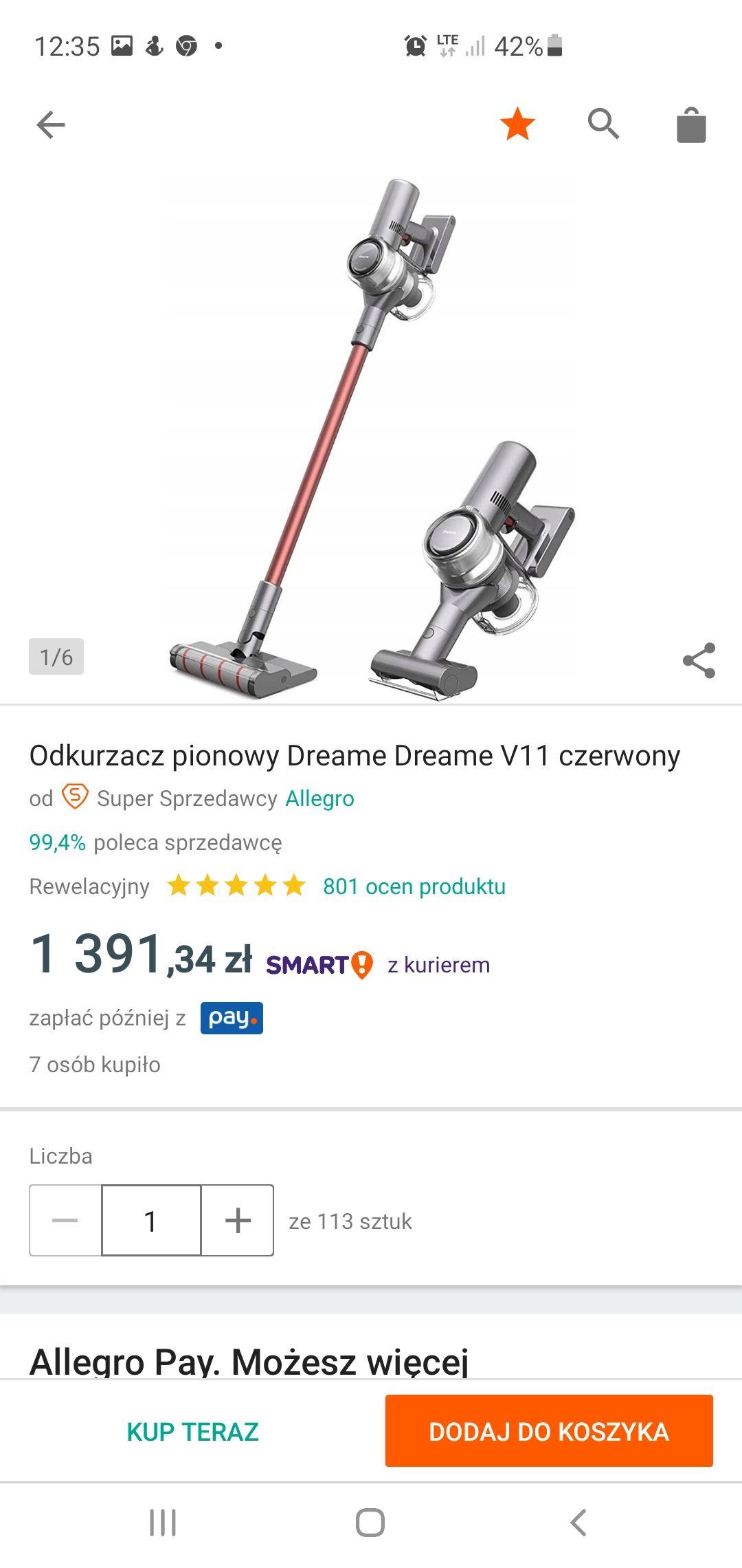 Odkurzacz pionowy Xiaomi dreame v11